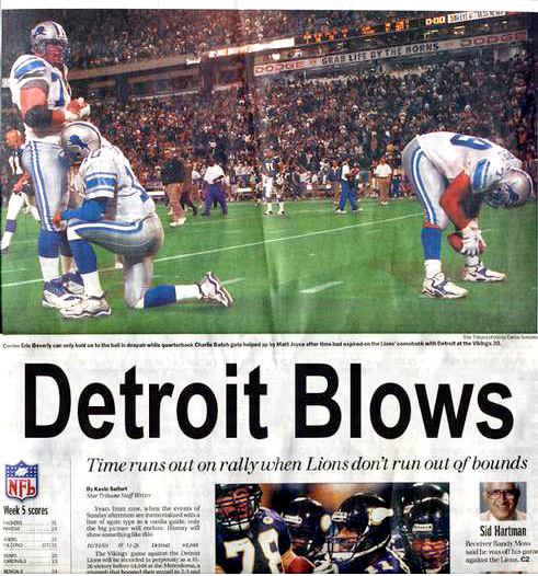 Strangely, one of Detroit's more positive headlines from 2008!